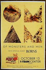 OF MONSTERS AND MEN 2015 Gig POSTER Broomfield Concert Colorado