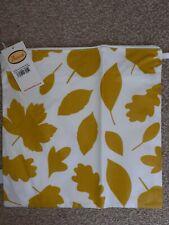 BNWT Designer Anorak Large Toiletry Wash Zip Bag Mustard Yellow Woodland Leaves