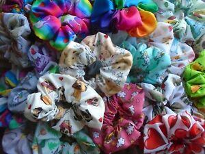 Hair Scrunchies Scrunchy Tie Band Elastic 100+ Designs Scrunchie Ties Bands Gift