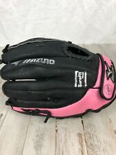 Mizuno Finch 11 inch Youth Fastpitch Glove GPP1105 Right Handed Throw Black Pink