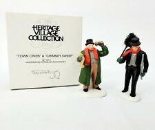 Department 56 - Heritage Village - Town Crier & Chimney Sweep Accessory - Euc