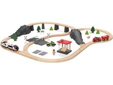 Kinder Holzeisenbahn 80-teilig Eisenbahn Holzspielzeug (NEU)