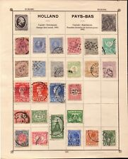 More details for album page of stamps from holland . some victorian . from a private collection