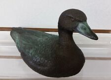 PHIL VANDERLEI SIGNED 80's VTG PATINATED BRONZE DUCK SCULPTURE FIGURINE 227/500