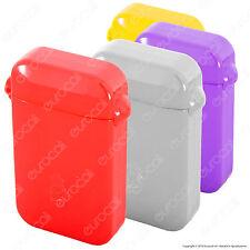 Posacenere Bravo Rex Tascabile in Plastica Colorato con Tappo Antiodore•
