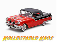 1:18 Sun Star - 1955 Pontiac Starchief Convertible - Raven Black/ Red NEW IN BOX