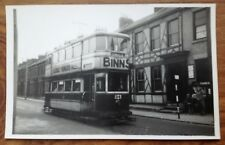 Real Photograph Sunderland Corporation Tramways no.34 1953 . Free Postage