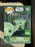 Yoda Star Wars ECCC Funko Pop Vinyl New in Mint Box + P/P