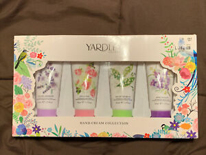 Yardly London Hand Cream Collection 4 50 ml Bottles Lavender Rose Lily Violet