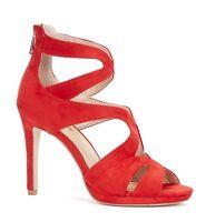 GAUDI BALI V73 65290 scarpe sandali donna tacco alto casual camoscio rosso zeppa