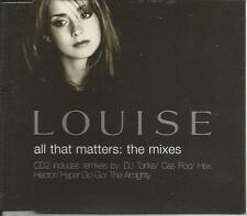 LOUISE Redknapp All the Matters 6 MIXES ALMIGHTY CD Single SEALED USA Seller