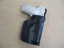 Colt 1903 32 .32acp Leather Clip On OWB Belt Concealment Holster CCW - BLACK RH