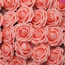 50/100 Rosas artificiales de espula Fiesta Boda Flores Ramo Novia Decoración