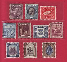 R* GB CYPRUS 10 V. 1928 BRITISH ADMINISTRATION-50 YEARS MH/MNH Mi.Nr. 108-117