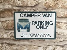 METAL SIGN - VW CAMPER VAN WALL PLAQUE - IDEAL GIFT - NOVELTY XMAS PRESENT