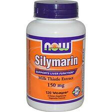 Now Foods, Silimarina extracto de cardo de leche con la cúrcuma, 150mg X 120 Vcaps