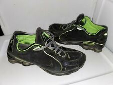 finest selection 1903c 5ba97 Nike Shox Mens Athletic Running Shoes Size 13 Lime Green   Black Suede  Leather