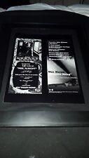 Van Halen/Steve Earle Rare Original Radio Promo Poster Ad Framed!