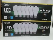 LED Replacement Bulbs 60 W 2 PACKS OF 6 (12) Feit Electric