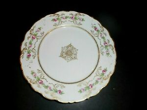 Vintage Limoges Elite France Roses Plate Gold Fine Condition