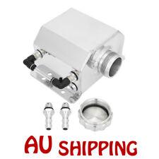 Universal 1L 1000ml  Aluminum Car Engine Oil Catch Can Reservoir Tank Silver New