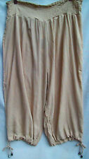 Beige swimsuit cover up Beach holiday dress crop capri pant 18 Harem option cuff