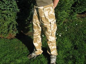 British Army Desert Camo Combat Trousers Camouflage Military Surplus