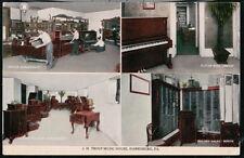 HARRISBURG PA J H Troup Music House Vintage Prelinen Postcard Old Multiview PC