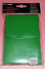 Ultra Pro 100 Deck Protector GREEN CARD SLEEVES for mtg Magic the Gathering