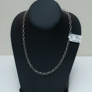 """New LAGOS Sterling Silver Fluted 7mm x 5mm Link Necklace 18"""""""