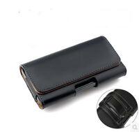 Horizontal Universal Phone Leather Pouch Case Holder Belt Clip Carrying Holster