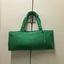 BANANA REPUBLIC Green Suede Handbag Purse EXCELLENT CONDITION Baguette Style