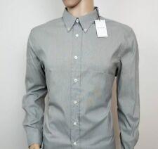 New PS Paul Smith Mens Shirt Grey Oxford Stretch Mainline Sz XL , 17.5 RRP £139