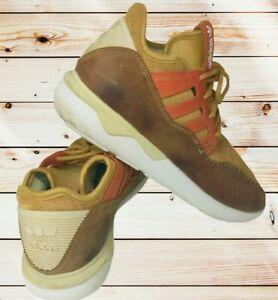 Men's Adidas Tubular Casual Workwear Moc SuedeBrown Orange Sz 11.5