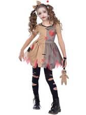 Girls Rag Voodoo Doll Costume Halloween Broken Zombie Dolly Fancy Dress Childs
