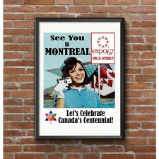 Expo 67 Poster - Montreal Worlds Fair 1967 - Canada's Centennial Celebration