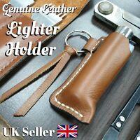 Handmade Leather Lighter Holder Case Gift Clipper For Men & Women