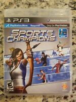 Sports Champions for PlayStation 3 Move PS3 Complete FREE S/H