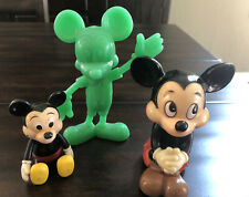 New listing Mickey Mouse Walt Disney Plastic Toy Bank Moveable Vintage 1970's Lot