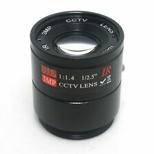 """16mm / F1.4 HD 3MP 1/2.5""""Fixed InfraRed CS Mount Lens for  CCTV Security Camera"""