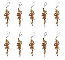 10 Brown Monkeys Star Flower Cell Phone Good Luck Charm Strap Accessory Gift