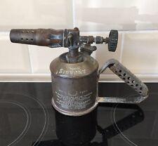 OLD BRASS ORIGINAL SIEVERT BLOW TORCH BENZOLINE LAMP MADE IN SWEDEN TYPE NO 220