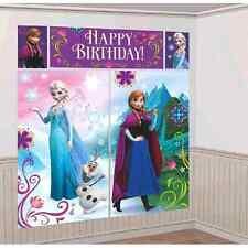 Disney Frozen Elsa Scene Setter Wall Decorations Kit 5pcs Party Supplies Aust