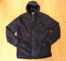 Fat Face Made Well Worn Well Men's Hooded Parka Blue Coat Size XL