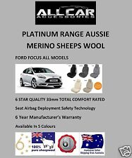 Ford Focus Sheepskin Car Seatcovers,6 Star Luxury, 5 Colours ,Airbag 33mm TC
