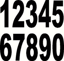 "RACE NUMBERS 6"" BLACK MOTORCYCLE MOTORCROSS"