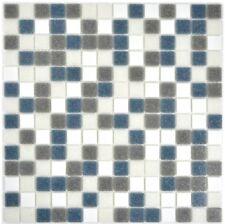 Mosaïque carreau verre blanc gris métalisse cuisine 210-P001625_f | 10 plaques