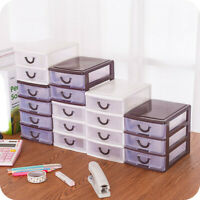 Cosmetic Storage Box Drawer Desktop Plastic Makeup Case Desk Table Organizer Box