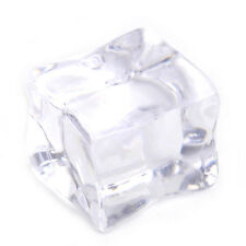 20pcs Fake Acrylic Ice Cubes Artificial Wedding Party Photography Display Clear 2.5cm