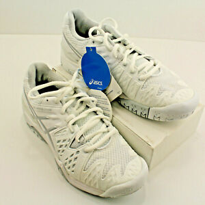 s2 ASICS Gel-Resolution 6 Clay Court Sneaker Tennis Shoe Size 5.5  White Silver